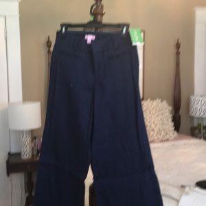 Lilly Pulitzer wide leg linen/cotton dress pants